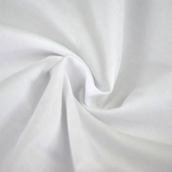 Rayon Challis Plain Dyed White