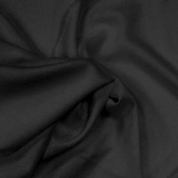 Rayon Challis Plain Dyed Black